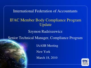 IFAC Member Body Compliance Program Update
