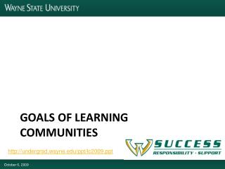 Goals of learning communities