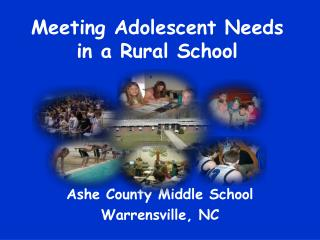 Meeting Adolescent Needs in a Rural School