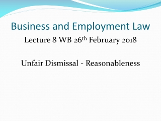 Business and Employment Law