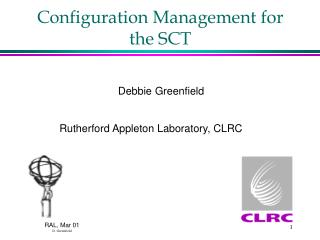 Configuration Management for the SCT
