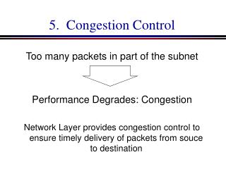 5.   Congestion Control