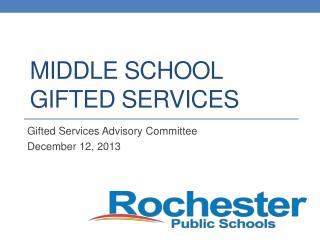 Middle School Gifted Services