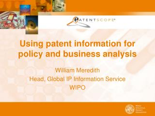 Using patent information for policy and business analysis