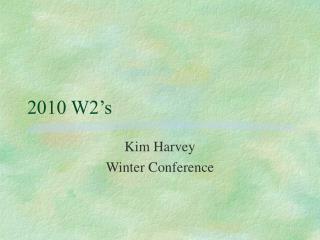 2010 W2's