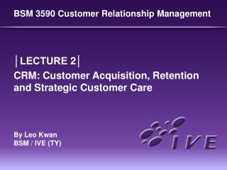 BSM 3590 Customer Relationship Management