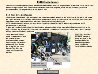 TS4120 Adjustments