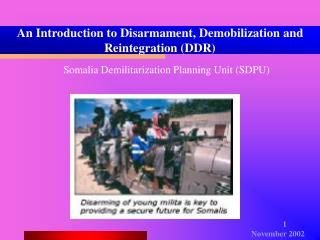 An Introduction to Disarmament, Demobilization and Reintegration (DDR)