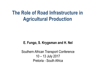 An Overview of Rural Development in South Africa