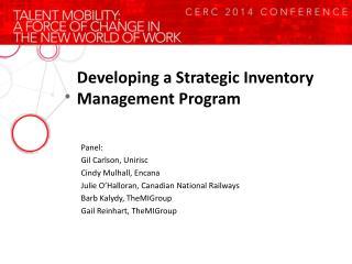 Developing a Strategic Inventory Management Program