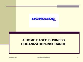 A HOME BASED BUSINESS ORGANIZATION-INSURANCE