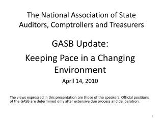 The National Association of State Auditors, Comptrollers and Treasurers