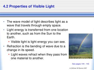 4.2 Properties of Visible Light