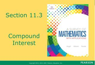 Section 11.3 Compound Interest