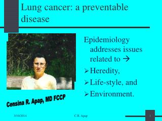 Lung cancer: a preventable disease