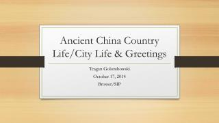 Ancient China Country Life/City Life & Greetings