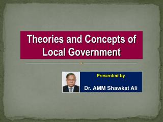 Theories and Concepts of Local Government