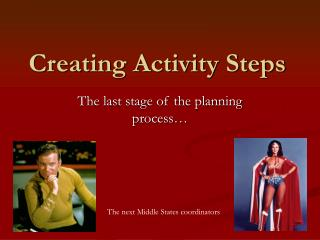 Creating Activity Steps