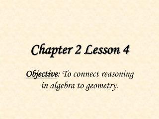 Chapter 2 Lesson 4