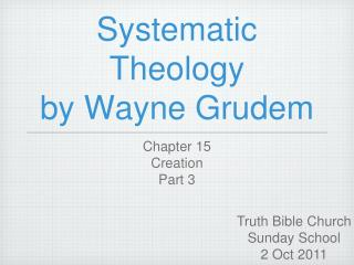 Systematic Theology by Wayne Grudem