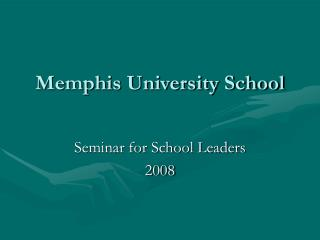 Memphis University School