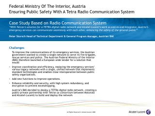 Case Study Based on Radio Communication System