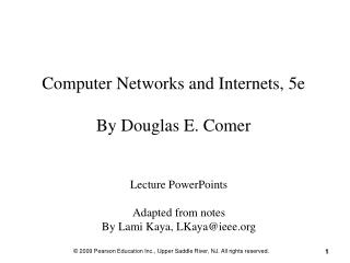 Computer Networks and Internets, 5e By Douglas E. Comer