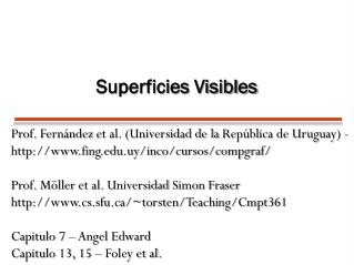 Superficies Visibles