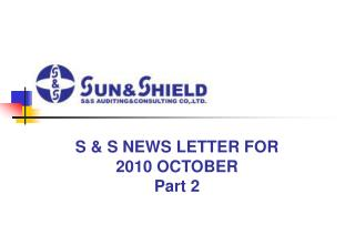 S & S NEWS LETTER FOR 2010 OCTOBER Part 2