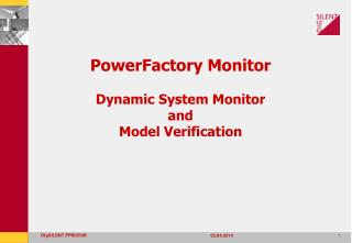 PowerFactory Monitor Dynamic System Monitor  and  Model Verification