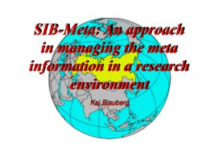 SIB-Meta: An approach  in managing the meta information in a research environment