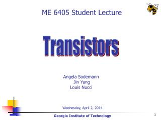 ME 6405 Student Lecture