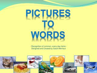 Pictures  To  words