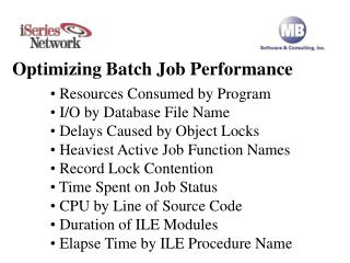 Optimizing Batch Job Performance