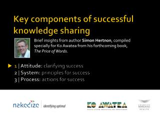 Key components of successful knowledge sharing