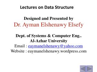 Lectures on  Data Structure