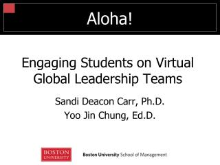 Engaging Students on Virtual Global Leadership Teams