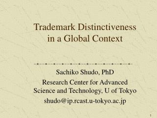 Trademark Distinctiveness in a Global Context