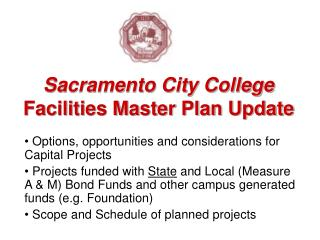Sacramento City College Facilities Master Plan Update