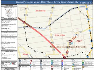 Disaster Prevention Map of Xillian Village, Xiaying District, Tainan City