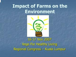 Impact of Farms on the Environment