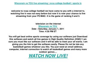 Wisconsin vs TCU live streaming | ncca college football | sp
