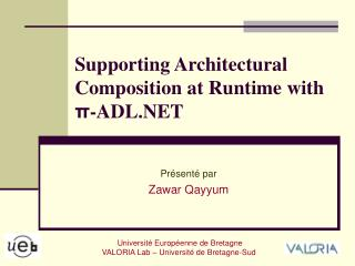 Supporting Architectural Composition at Runtime with π -ADL.NET