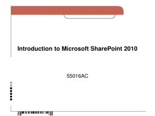 Introduction to Microsoft SharePoint 2010