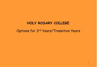 HOLY ROSARY COLLEGE