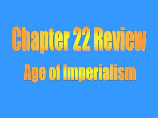 Chapter 22 Review