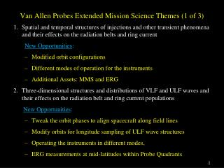 Van Allen Probes Extended Mission Science  Themes (1 of 3)