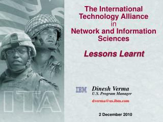 The International Technology Alliance in Network and Information Sciences Lessons Learnt