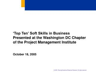 october 18 2005 october 18 2005 top ten soft skills