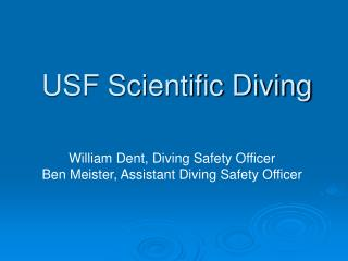 USF Scientific Diving